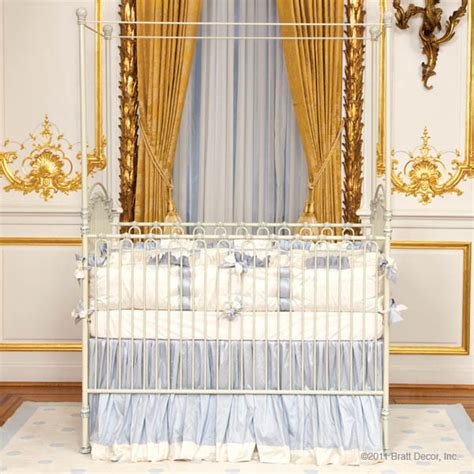 venetian iron crib in antique white by bratt decor traditional cribs new york by