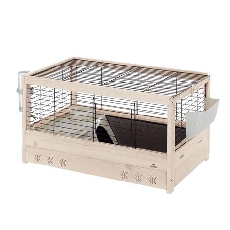 cage arena pour cochons d inde en bois l 82 x l 52 x h 45 5 cm ferplast animalerie truffaut