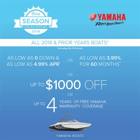 Boat Financing 0 Down by Offers Yamaha Boats