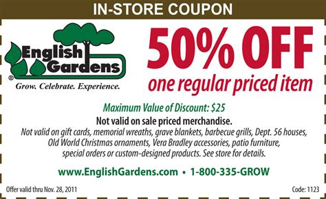 gardens 50 one regular priced item bargains to bounty