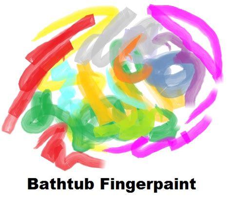 bathtub fingerpaint recipe