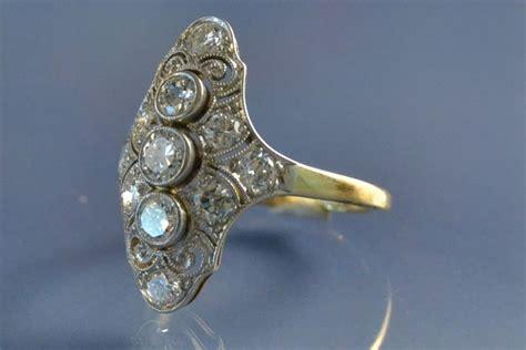 bijoux anciens bague marquise d 233 co diamants bague vendue