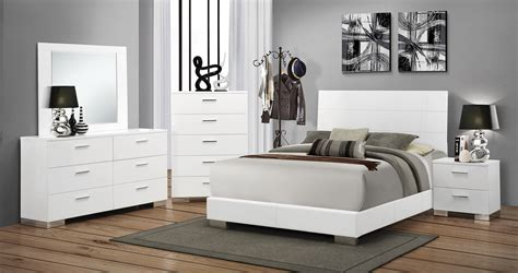 Coaster Felicity Bedroom Set-white-bed-set At