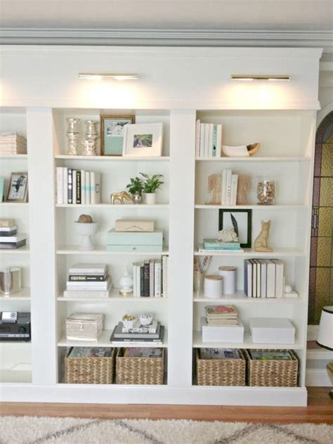 beautiful library lights design chic the baskets in the bookcase home