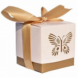 Geschenkschachtel Mit Deckel : 10er pack geschenkschachtel schmetterling gold deckel wei 5x5x5cm ~ Markanthonyermac.com Haus und Dekorationen