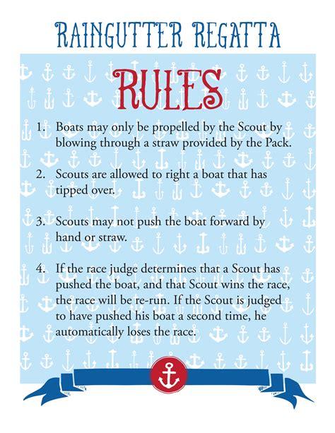 Boat Flags Rules by Cub Scout Raingutter Regatta The Mormon Home