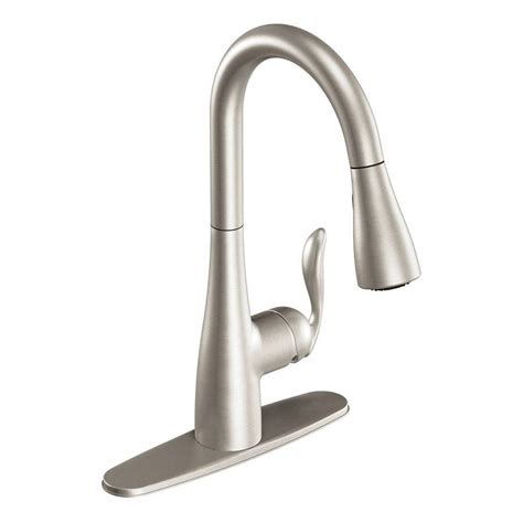 Moen Arbor Kitchen Faucet Stainless by Shop Moen Arbor Stainless 1 Handle Pull Deck Mount