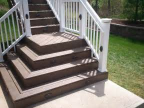 deck stair lighting st louis decks screened porches pergolas by archadeck