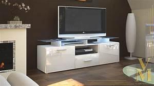 Tv Sideboard Weiß : tv board lowboard sideboard tisch rack m bel almada wei hochglanz naturt ne ebay ~ Markanthonyermac.com Haus und Dekorationen