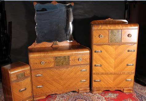 deco waterfall bedroom set dresser mirror chest nightstand bedframe set ebay