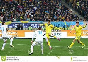 Ukraine And Slovenia. UEFA EURO 2016 Play-off Editorial ...