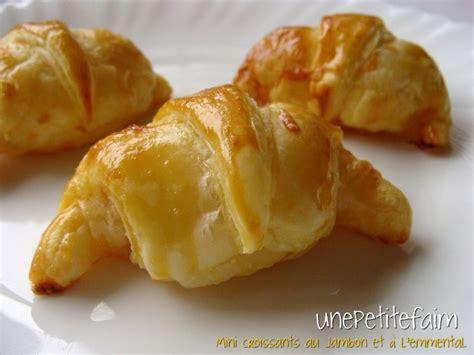 mini croissants jambon emmental une faim