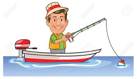 Cartoon Man In A Boat by Man Fishing Clip Art Www Pixshark Images Galleries