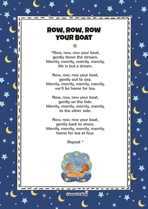 Round Your Boat by Row Row Row Your Boat Kids Video Song With Free Lyrics