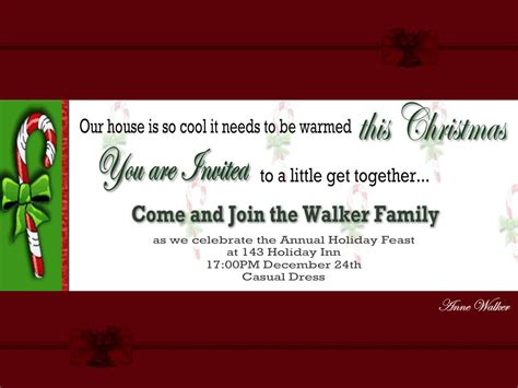 Christmas Invitation Template And Wording Ideas Christmas Party Event Ideas Hostess Gift For Veggietales 1960s Office Games Large Groups Exchange Clever Names