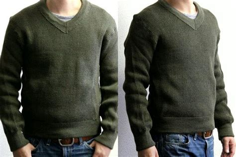 France Army Combat V Neck Knit And Darkgreen / Sweater / Army Military Dead