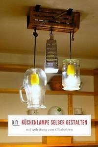 Hängelampe Selber Machen : individuelle k chenlampe selber machen lampe selber bauen lampen selber machen und obstkisten ~ Markanthonyermac.com Haus und Dekorationen