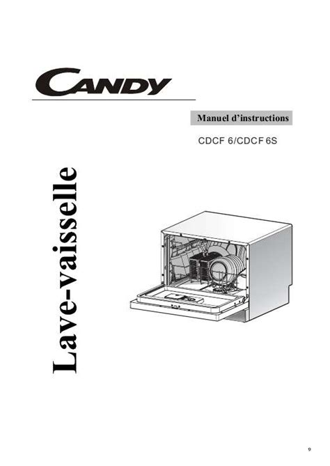 mode d emploi lave vaisselle cdcf 6 trouver une solution 224 un probl 232 me cdcf 6 notice