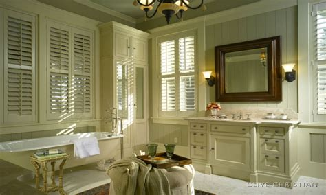 French Country Bathroom With Louvered Windows And Low Tub Casual Dining Room Curtain Ideas Aqua Living Decorating Modern Paint Colours For Rooms Gray And Red Interior Design Couch Pictures Idea Ceiling Contemporary Looks
