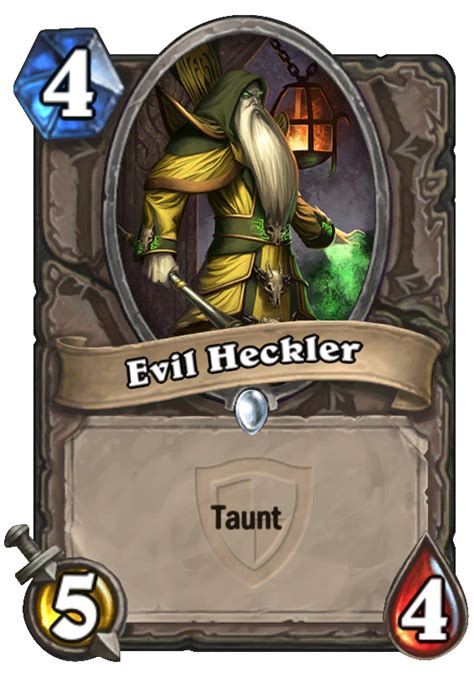 evil heckler hearthstone card