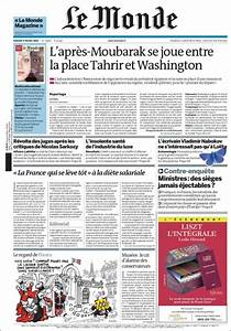 Newspaper Le Monde (France). Front pages from newspapers ...