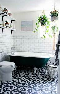 Vintage Fliesen Bad : mit zimmerpflanzen das zuhause dekorieren 60 beispiele wie sie das verwirklichen ~ Markanthonyermac.com Haus und Dekorationen