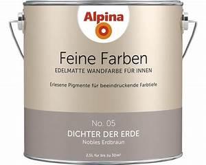 Alpina Sanfter Morgentau : alpina wandfarbe feine farben dichter der erde 2 5 l bei hornbach kaufen ~ Markanthonyermac.com Haus und Dekorationen