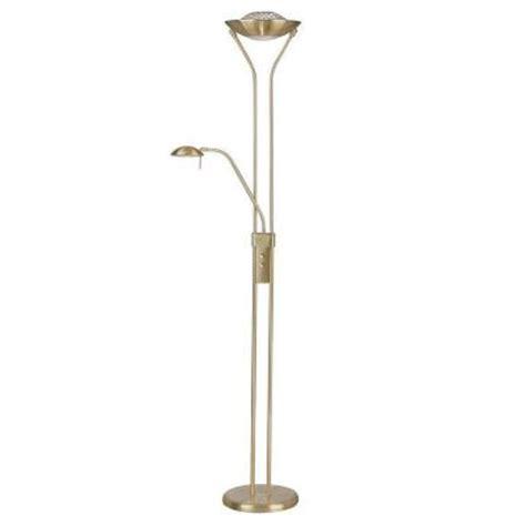 illumine designer collection 71 in brass halogen floor