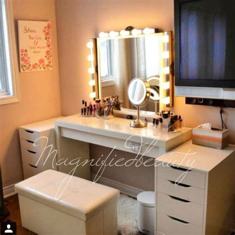 ikea vanity by magnifiedbeauty on instagram malm dressing table 150 alex drawers each 80