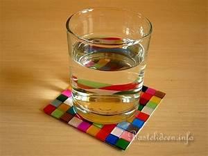 Basteln Mit Mosaiksteinen : basteln und bastelideen mosaik glasuntersetzer ~ Whattoseeinmadrid.com Haus und Dekorationen