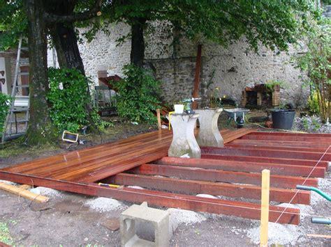 r 233 alisation d une terrasse bois oloron sainte 64 despaux cr 233 ation jardins