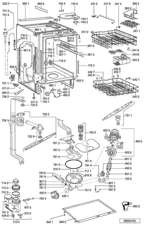 vue 233 clat 233 e et pi 232 ces d 233 tach 233 es pour le whirlpool lave vaisselle adg8532wh 854285329830