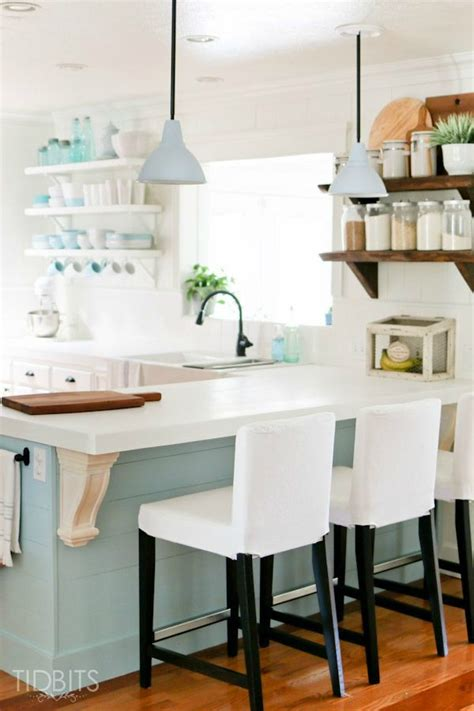 Small Kitchen Design {beach Cottage}  The House Of Silver