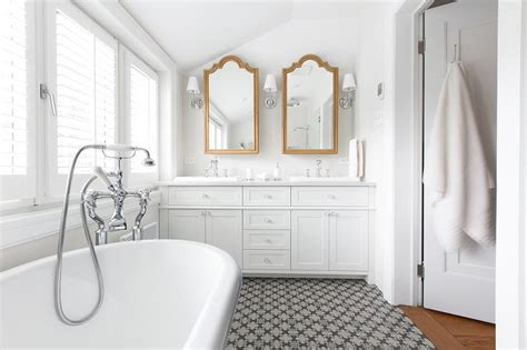 White Bathroom With Gold Vanity Mirrors Engineered Flooring Manufacturers In Europe Outdoor Rubber Canada Wood Laminate Over Tile Prefinished Hardwood Nashville Walnut Oiled Mohawk Rockford Plank Rustic Solid