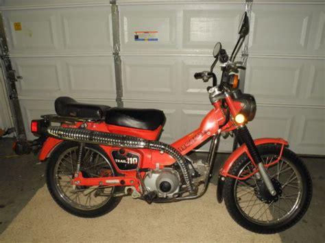 1981 Honda Ct110 Trail 110 Trail Bike Honda Trail Runs And