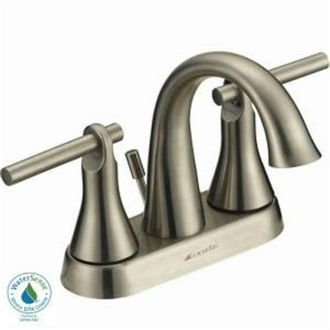 glacier bay toomba 4 in 2 handle high arc bathroom faucet in brushed nickel avi depot much
