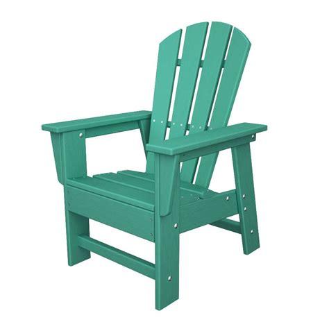 shop polywood aruba plastic adirondack chair at lowes
