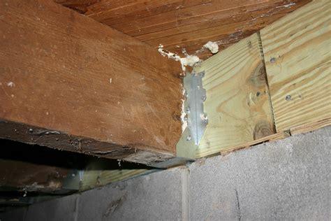 floor joist repair crawlspace floor joists before http
