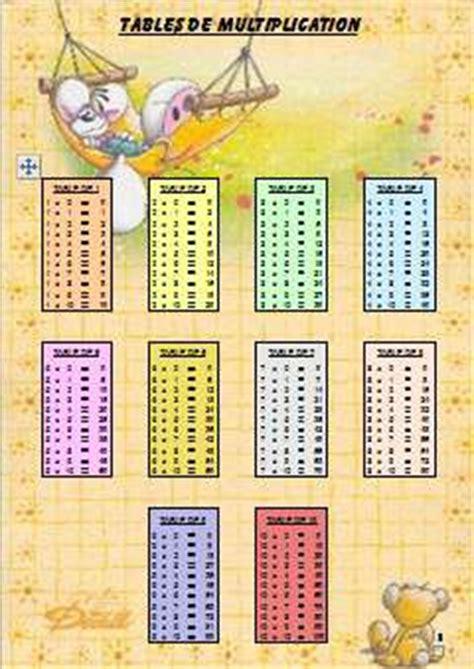 tables de multiplication a imprimer