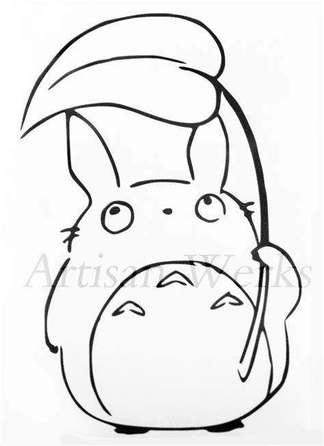 Totoro Pumpkin Pattern by My Neighbor Totoro Chu Totoro Decal Sticker Leaf Manga
