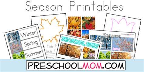 Free Four Seasons Printables From Preschool Mom! Wordwall