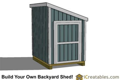 6x8 lean to shed plans icreatables