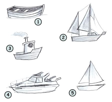 How To Draw A Cartoon Boat Step By Step by Drawing A Cartoon Boat