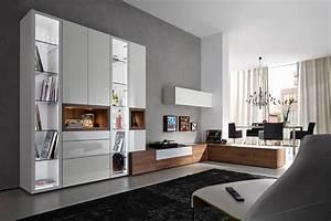 Moderne Wohnzimmer Schrankwand : h lsta neo wohnwand einrichtungsh user h ls ~ Markanthonyermac.com Haus und Dekorationen
