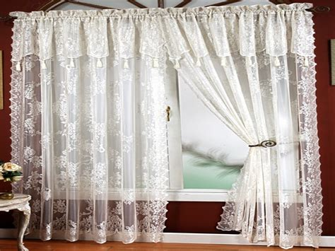 window curtains design lace panel curtains with attached valance italian lace curtain panels