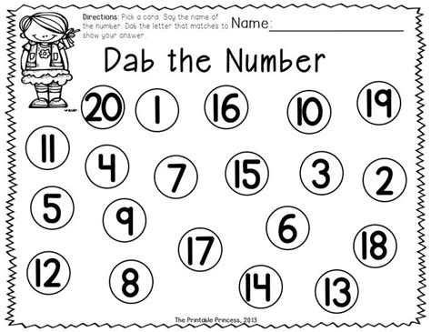 A Dab Of Learning {bingo Dabber Alphabet & Number Recognition Activities} Kinderland