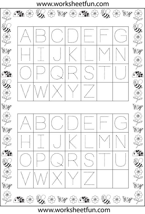 Free Printable Alphabet Tracing Worksheets A Z  Free Printable Alphabet Tracing Worksheets For