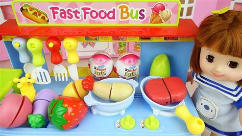 Baby Doli And Food Car Toy With Surprise Eggs Baby Doll