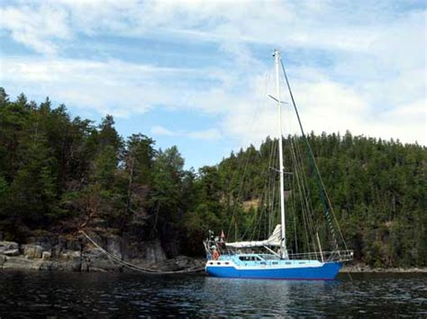 Sailboat Stern Tie by Sv Dulcie Darlene Cruising Around Preparing For The Big