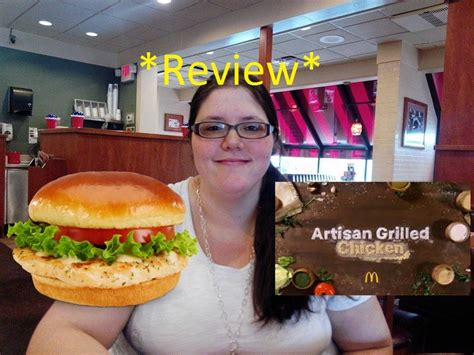 Mcdonalds Artisan Grilled Chicken Sandwich Review Youtube